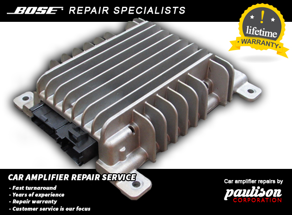 GM BUICK CADILLAC CHEVY 2007-2013 BOSE AMPLIFIER REPAIR SERVICE LIFETIME WTY