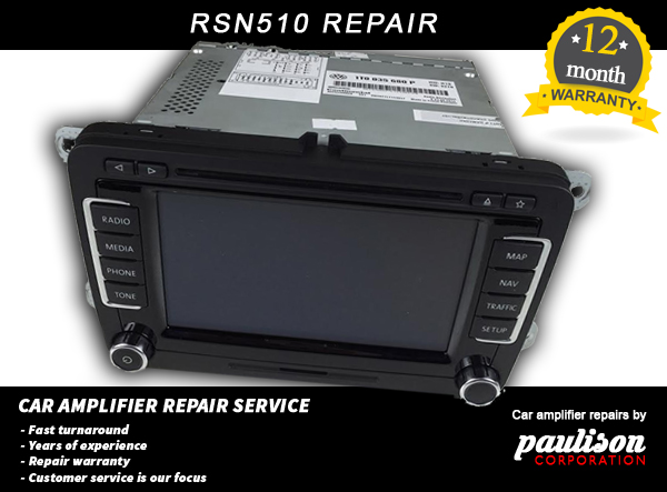 VW Volkswagen RNS510 Sat Nav Repair Service (Splash Screen,boot Problem)  ONLY